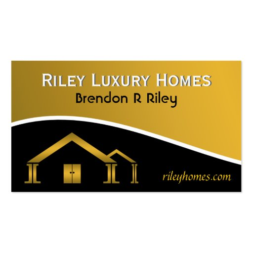 Home Building Construction Business Cards Standard