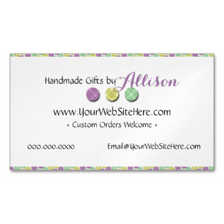 Home Business Homemade Soap • Bath Bomb • Lotions Magnetic Business Card