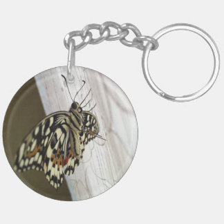 Home Butterfly, Circle (double-sided) Keychain