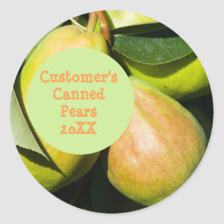 Home-Canned Pears Template Sticker