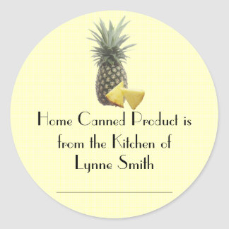 Home Canning Labels -- with Pineapples