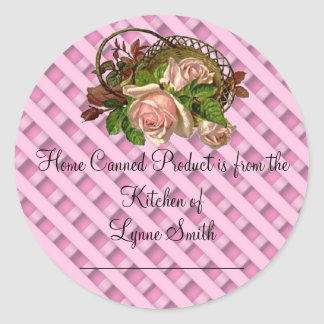 Home Canning Labels -- with Pink Roses