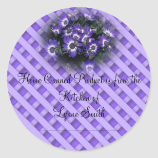 Home Canning Labels -- with Purple Flowers