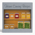 Home Canning Recipe Binder