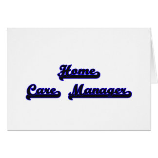 Home Care Manager Classic Job Design Stationery Note Card