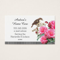 Home Care Pink Roses and Bird