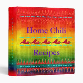 Home Chili Recipes Binder