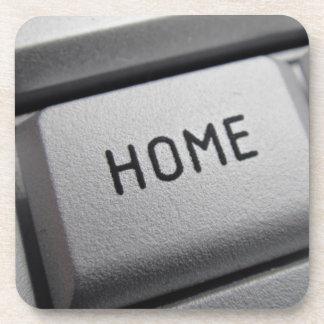 Home computer-key coaster