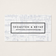 Home Construction And Architect Blueprint Business Card at Zazzle
