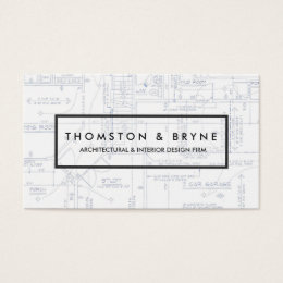 Blueprint gifts on zazzle home construction and architect blueprint business card malvernweather Choice Image