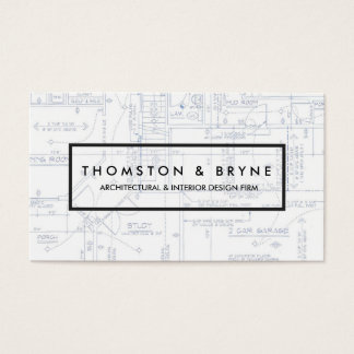 Home Construction and Architect Blueprint Business Card