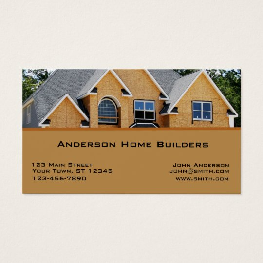 Home construction business card zazzle home construction business card reheart Choice Image