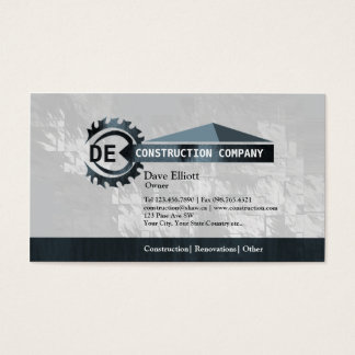 Home construction monogram business cards
