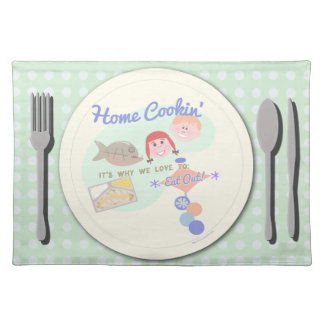 Home Cookin for Dinner Cloth Placemat