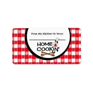 Home Cookin' Personalized Food Label Address Label