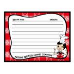 Home Cookin' Recipe Cards Postcard