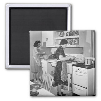 Home Cooking: 1942 2 Inch Square Magnet
