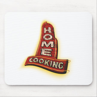 home cooking neon sign mouse pad