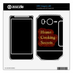 Home Cooking Secrets Cellphone Skin Decals For HTC Inspire 4G