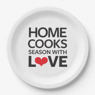 Home Cooks Season With Love 9 Inch Paper Plate