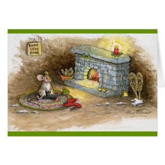 Home Cozy Home-Snowshoe Mouse Greeting Cards
