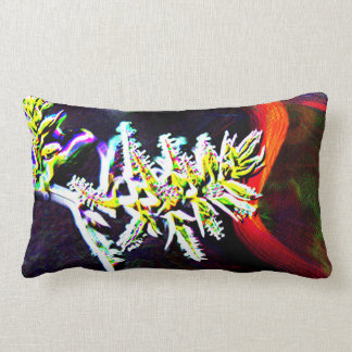 Home Decor - Abstract Neon Flower Lumbar Pillow
