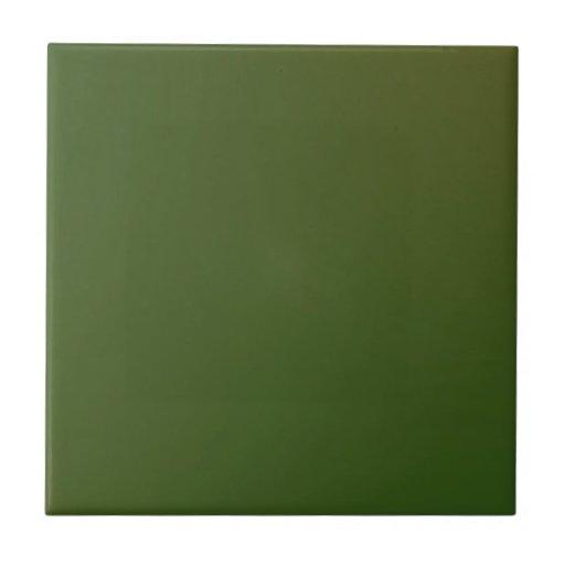 Home Decor Accents Olive Green Fade Small Square Tile Zazzle