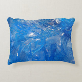 Home Decor blue ice Accent Pillow
