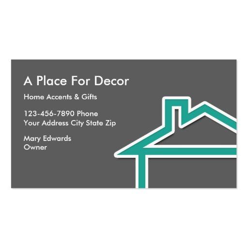 Home Decor Business Cards Zazzle