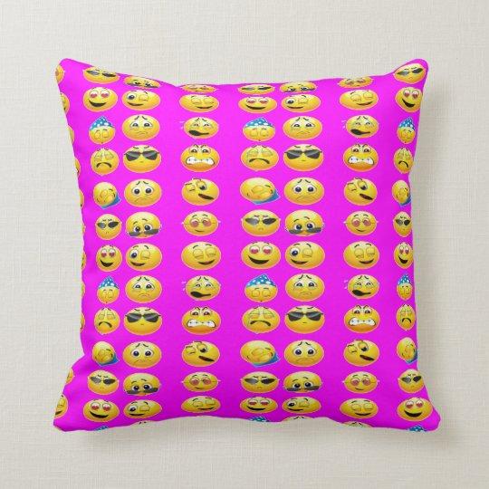 Home Decor EMOJI PILLOWS-Bedroom Dorm Throw Pillow Zazzle.com