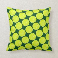 home decor tennis yellow balls throw pillow