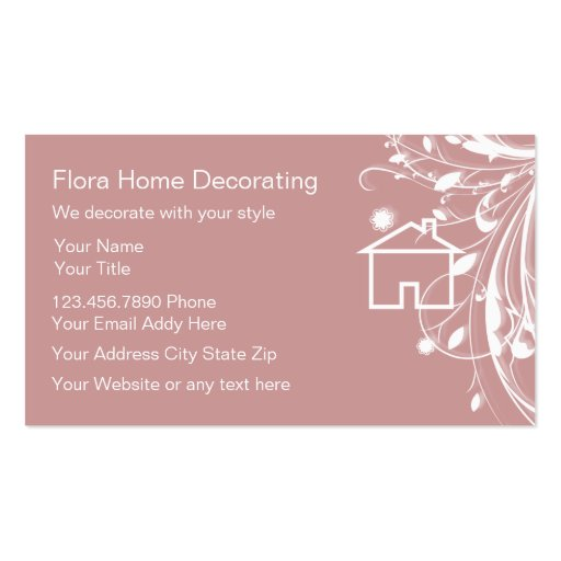 Home Decorating Business Card Zazzle