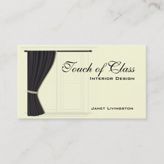 Home Decor Furnishing Services: Home Decorating Service Business Card