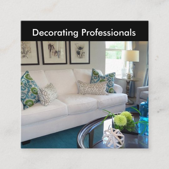 Home Decorator And Staging Businesscards Square Business Card