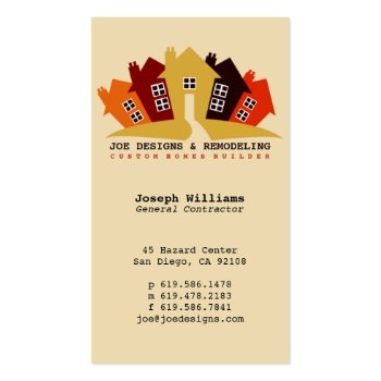 Home Design, Remodeling Construction Business Card