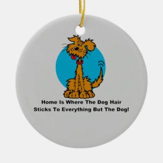 Home Dog Hair Ceramic Ornament