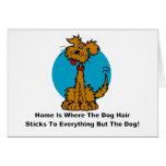 Home Dog Hair Greeting Cards