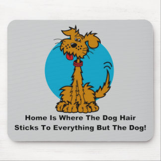 Home Dog Hair Mouse Pad