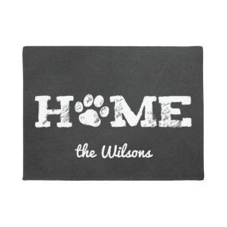 HOME Dog Paw Print | Personalize Doormat