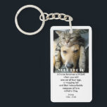"""Home (Dog) Pet Memorial Keychain<br><div class=""""desc"""">Commemorate the anniversary of a beloved pet&#39;s passing with this double-sided Pet Memorial Keychain. Completely customizable front and back, this key chain is available in rectangular, square or circle style. You can also choose a single-sided keychain in rectangular, square or circle style. It can also be used as a thoughtful...</div>"""