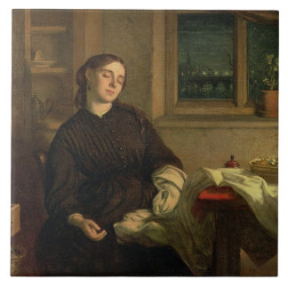 Home Dreams, 1869 (oil on canvas laid down on pane Ceramic Tile