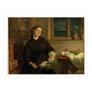 Home Dreams, 1869 (oil on canvas laid down on pane Postcard