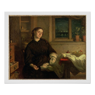 Home Dreams, 1869 (oil on canvas laid down on pane Poster