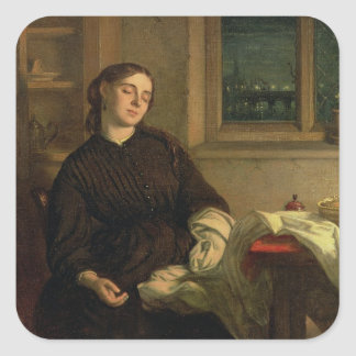 Home Dreams, 1869 (oil on canvas laid down on pane Square Sticker