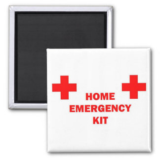 Home Emergency Kit 2 Inch Square Magnet