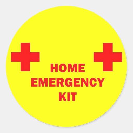 Home Emergency Kit Sticker