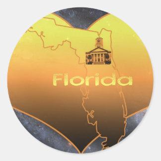 Home Florida Classic Round Sticker