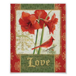 Home for Christmas Amaryllis Love Posters