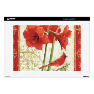 """Home for Christmas Amaryllis Love Decal For 15"""" Laptop"""