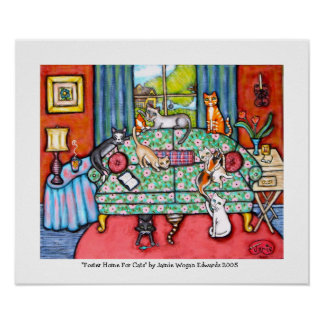 Home For Foster Cats byJamie Wogan Edwards Print